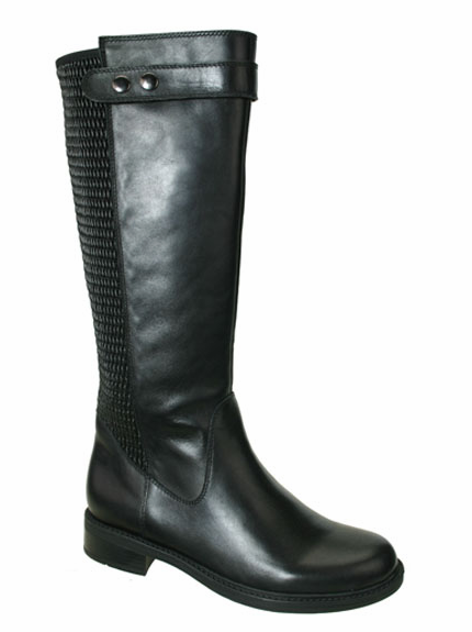 David Tate Women's Dori Extra/Super Women's Wide Calf™ Leather Boot (Black)