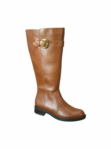 David Tate Women's Harper Extra/Super Wide Calf Boot (Luggage) - FINAL SALE