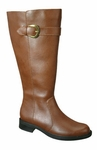 David Tate Women's Harper Extra/Super Wide Calf Boot (Luggage)