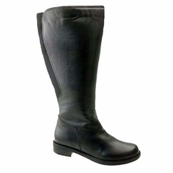 David Tate Women's Land Extra/Super Women's Leather Wide Calf™ Boot (Black)