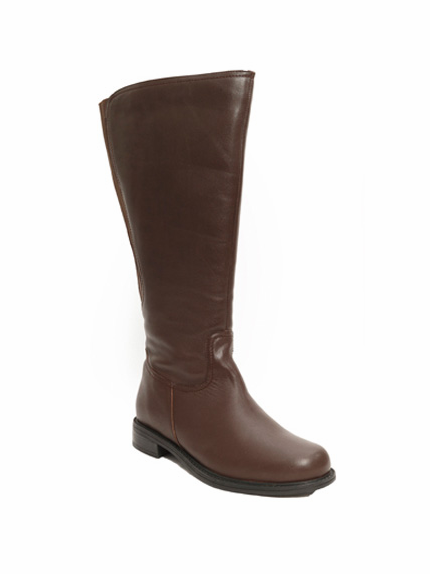 David Tate Women's Land Extra/Super Women's Leather Wide Calf™ Boot (Brown)