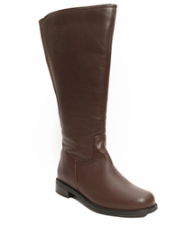 David Tate Women's Land Extra/Super Women's Leather Wide Calf� Boot (Brown)