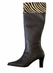 David Tate Women's Savannah Boot - Wide Calf  (Brown)