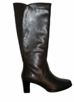 David Tate Women's Tyler Boot - Extra Wide Calf (Black)
