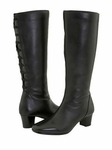 David Tate Women's Valentine Boot - Extra Wide/Super Wide Calf™ (Black)