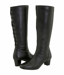 David Tate Women's Valentine Boot - Extra Wide/Super Wide Calf™ (Black) - Final Sale