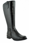 Jordana Women's Super/Super Plus Wide Calf&reg Leather Boot  (Black)