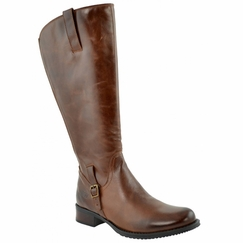 Jordana Women's Super/Super Plus Wide Calf&reg Leather Boot  (Cognac)