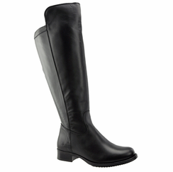 Lilah Women's Super/Super Plus Wide Calf �️ Leather Over the Knee Boot  (Black)