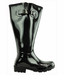 Lily Women's Extra Wide Calf Rain Boot (Black)