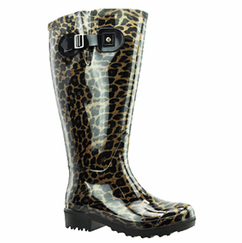 Lily Women's Extra Wide Calf Rain Boot (Leopard)