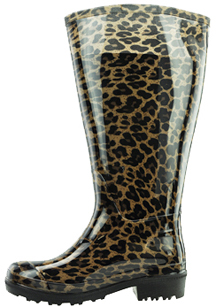 Lily Women's Super Wide Calf™ Rain Boot (Leopard) - Super Wide ...