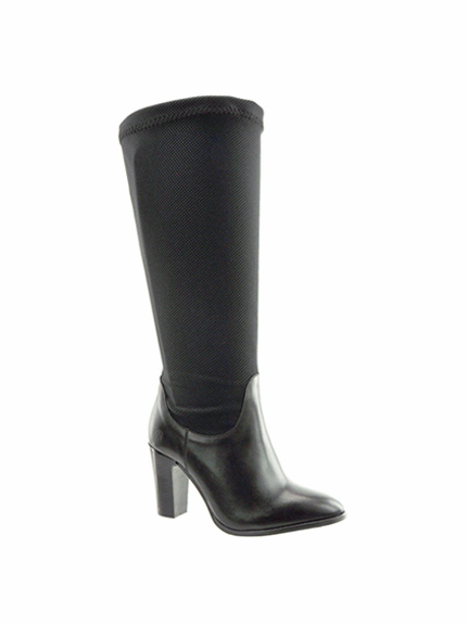 Lola Women's Extra Wide to Super Plus® Wide Calf Stretch High Heel Boot (Black)