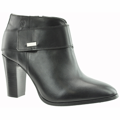 Morgan Women's  Extra Wide Fit Leather Ankle Dress Boot (Black)