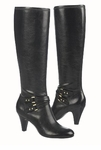 Naturalizer Byron Wide Calf Dress Boot (Black)