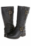 Naturalizer Women's Ballona Mid-Calf Wide Calf Boot (Black)