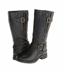 Naturalizer Women's Ballona Mid-Calf Wide Calf Boot (Black) - Final Sale