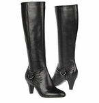 Naturalizer Women's Barstowe Wide Calf Dress Boot (Black)