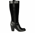 Naturalizer Women's Glassy Wide Calf Riding Boot (Black)