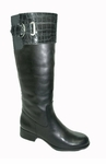 Naturalizer Women's Hunter Plus Wide Calf Riding Boot (Black)