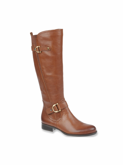 Naturalizer Women's Jersey Wide Calf Riding Boot (Banana Bread) - FINAL SALE