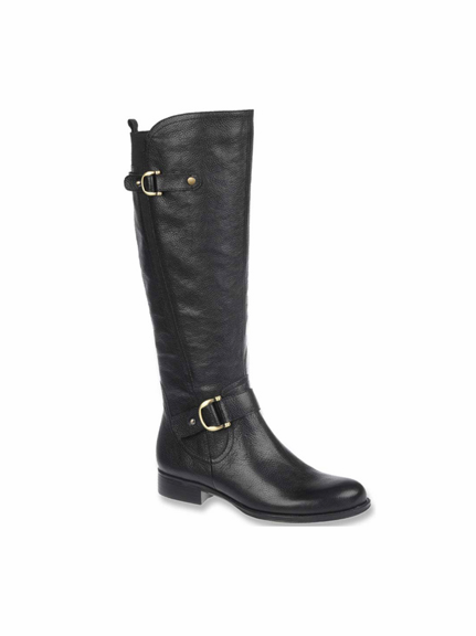 Naturalizer Women&39s Jamison Wide Calf Riding Boot (Black) - Final