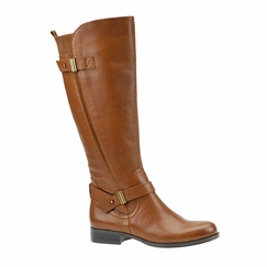 Naturalizer Women's Joan Wide Calf Leather Riding Boot  (Banana Bread)