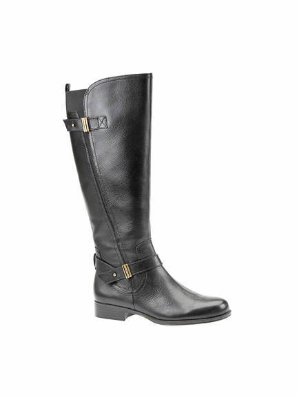 Naturalizer Women's Joan Wide Calf Leather Riding Boot (Black)