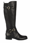 Naturalizer Women's Juletta Wide Calf Boot (Black)