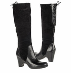 Naturalizer Women's Milano Wide Calf Boot (Black Suede)