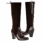Naturalizer Women's Milano Wide Calf Boot (Brown Suede)