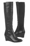 Naturalizer Women's Quinlee Wide Calf Wedge Boot (Black)