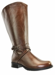 Riley Women's Super/Super Plus Wide Calf�  Leather Boot ON SALE!   (Cognac)