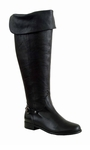 Ros Hommerson Women's Alyssa Extra Wide Calf Thigh High Over-the-Knee Boot (Black)