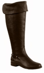 Ros Hommerson Women's Alyssa Extra Wide Calf Thigh High Over-the-Knee Boot (Brown)