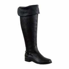 Ros Hommerson Women's Alyssa Extra Wide Calf Thigh High Over-the-Knee Boot (Black) - FINAL SALE