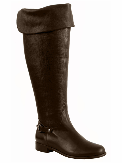 Ros Hommerson Women's Alyssa Extra Wide Calf Thigh High Over-the-Knee Boot (Brown) - FINAL SALE