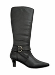 Ros Hommerson Women's Buckle Extra Wide Calf Boot (Black)