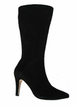 Ros Hommerson Women's Maine Extra Wide Calf Boot (Black Suede)