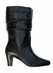 Ros Hommerson Women's Oregano Extra Wide Calf Boot (Black Leather)
