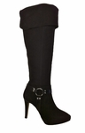Ros Hommerson Women's Tease Extra Wide Calf Over-the-Knee (Black Suede)