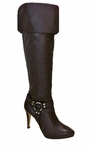 Ros Hommerson Women's Tease Super Wide Calf™ Over-the-Knee (Brown Leather)