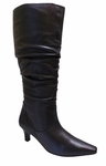 Ros Hommerson Women's Tiffany Extra Wide Calf Boot (Black Leather)