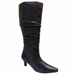 Ros Hommerson Women's Tiffany Extra Wide Calf Boot (Black Leather) - Final Sale