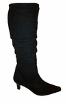 Ros Hommerson Women's Tiffany Extra Wide Calf Boot (Black Suede)