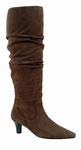Ros Hommerson Women's Tiffany Extra Wide Calf Boot (Brown Suede)