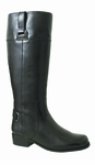 Rose Petals Julia Extra Wide Calf Boot (Black)