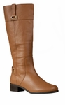 Rose Petals Julia Extra Wide Calf Boot (Tan)