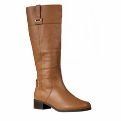 Rose Petals Julia Extra Wide Calf Boot (Tan) - Final Sale