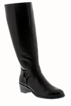 Rose Petals Lia Extra Wide Calf Boot (Black)